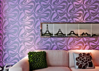 Modern Wall Covering , Purple Geometric Removable Wallpaper For Bedding Room