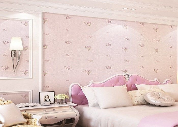 Lovely And Dreamlike Rose Childrens Bedroom Wallpaper Contemporary Romatic Style